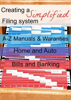 Creating a simple filing system is easier than you may think. Here's how to easily organize your home office - Home Decoration - Interior Design Ideas Organizing Paperwork, Clutter Organization, Household Organization, Organizing Your Home, Filing Cabinet Organization, Organization Ideas, Organizing Tips, Organizing Paper Clutter, Filing Cabinets