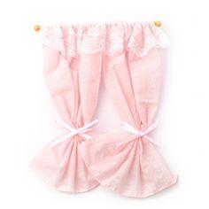 Minimum World E2825 - Pale Pink Curtains on Rail
