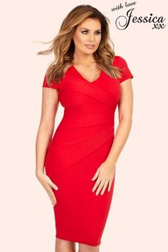 Jessica Wright Side Pleat Dress