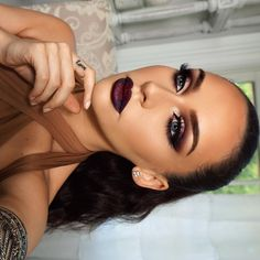 SMOKED PURPLE GRUNGE GLAM | the Beauty Bybel