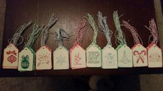 Set of 10 Holiday Christmas Gift Tags with by TheCountryChicBoTiQ
