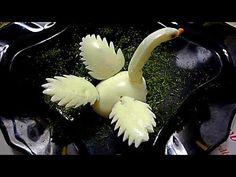 Лебедь из яйца. Карвинг из яйца. Украшения из яйца - YouTube