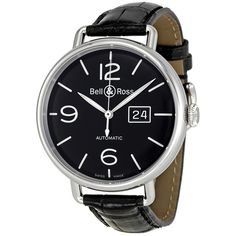 Bell and Ross WW1 Grande Date Black Dial Automatic Men's Watch BRWW196-BL-ST - Vintage - Bell and Ross - Shop Watches by Brand - Jomashop
