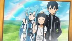 Kirito, Asuna and Yui•MishanshiMigu• | We Heart It | yui, kirito ...