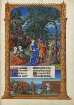 Folio 57r - The Flight into Egypt.jpg Très Riches Heures du Duc de Berry