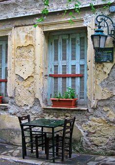 Sidewalk cafe, Athens, Greece