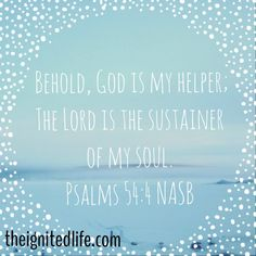 God is our sustainer!