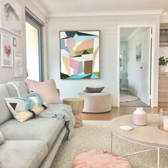 Pastel colored living room The Best of home decor ideas in 2017.