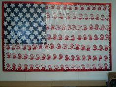 Our librarian's daughter made this. What a cool patriotic art project