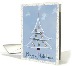 Christmas Tree Happy Holidays | Greeting Card Universe by Josette's Card Shop