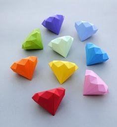 Драгоценные камни из бумаги шаблоны | HandMade