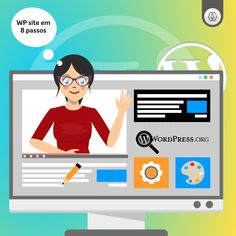 Saiba como cirar um website em Wordpress em apenas 8 passos. Simples e prático. Site Wordpress, Family Guy, Website, Guys, Fictional Characters, Themes Free, Step By Step, Simple, Fantasy Characters