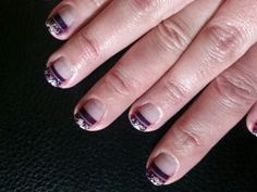 Negative space nail art : work great on short nails!