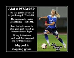 Julie Johnston Girls Soccer Defender Motivation Poster