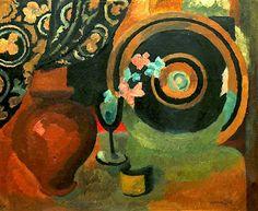 Vanessa Bell  1879 - 1961  Vase, hat & flowers