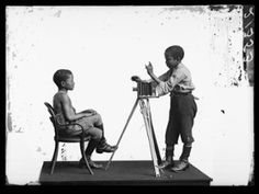 Albert Jonas and John Xiniwe of the African Choir, 1891. Photograph: Hulton Archive/Getty Images