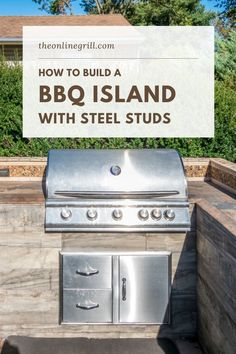 Looking to build the ultimate outdoor kitchen and patio? Here's how to use steel studs and tracks to built the perfect outdoor BBQ island for your backyard. #patio #kitchenisland #cooking #home Outdoor Patio Bar, Outdoor Kitchen Patio, Outdoor Kitchen Cabinets, Backyard Bar, Outdoor Kitchen Design, Backyard Ideas, Patio Ideas, Backyard Retreat, Outdoor Kitchens