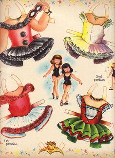 Ballet Paper Dolls Pushout Dolls, Saalfield #1385 (3 of 9)  Sharon's Sunlit Memories