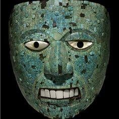 Foto: The Trustees of the British Museum    Entre os objetos da mostra estão uma rebuscada máscara feita de ouro e turquesa, considerada um dos melhores exemplos da arte asteca.