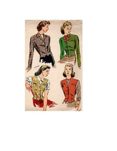 Simplicity 4749 Sewing Pattern 40s Vintage by AdeleBeeAnnPatterns