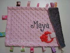 Personalized Softie blankets at www.sun7designs.com