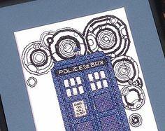 TARDIS - Doctor Who Cross Stitch Pattern