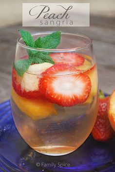Whether for brunch, lunch or to unwind after a long day, this Strawberry Peach Sangria is refreshing and fruity.