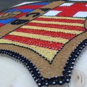 FCB logo string art