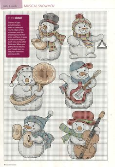 Selection Box - Christmas Cards (Musical Snowmen)