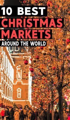 Which Christmas markets around the world are worth seeing this year? Here are 10 of the very best Christmas markets worldwide. Christmas Markets Europe, Christmas Travel, Christmas Fun, Christmas Getaways, Holiday Travel, Xmas, Ways To Travel, Best Places To Travel, Vacation Destinations