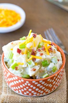 Bacon Cheddar Ranch Potato Salad - liven up your potato salad with this easy recipe!