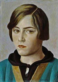 Gino Severini - Portrait de Gina (Hommage à Fouquet), 1927