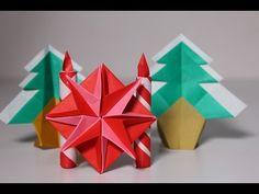 簡単折り紙 クリスマス スター - YouTube