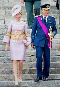 Queen Mathilde & King Philippe At Belgium's National Day Celebrations, July 21, 2017.