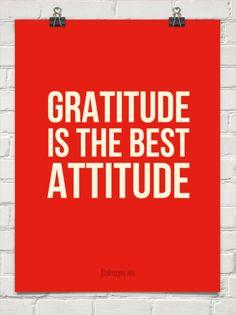 Gratitude  is the best  attitude #601