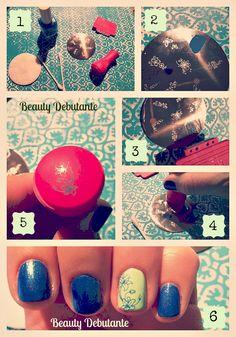 diy nail stamping tutorial