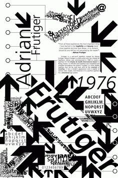 Frutiger Poster-Typography II with website translation on Behance
