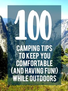 100 camping tips on everything from camping with infants to what to bring if you are not outdoorsy. What camping tips do you have for new campers? Camping Items, Camping Packing, Camping Outfits, Camping Supplies, Camping Checklist, Kids Checklist, Camping Stuff, Outdoor Supplies, Backpacking