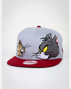 New Era Tom and Jerry Face Snapback Hat Black Snapback, Snapback Cap, Visual Kei, Dope Hats, New Era Fitted, Hip Hop Hat, Creepy, Summer Hats, Winter Hats