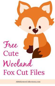 Free Fox SVG Cut File: Cute Woodland Animals. Free SVG cut files for Cricut and Silhouette. Free cute fox cut files.