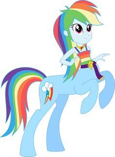 Rainbow Dash - Blue Centaur Princess of Loyalty by kaylathehedgehog on deviantART