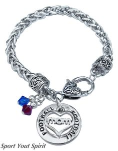 Personalized Team Color Double Charm Football by SportYourSpirit, $19.00