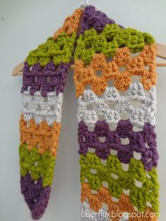 Fiber Flux...Adventures in Stitching: Free Crochet Pattern...Scrap Love Scarf