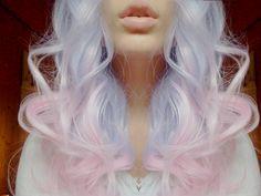 Bubblegum cute colors dyed pink and lavendar