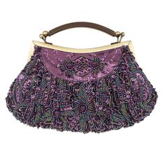Purple - plum - eggplant - violet -  All these colors shimmer in the sumptuous beads and sequins of this versatile purse
