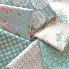 Tilda Spring Lake Fat Quarter Bundle 6pce - Set B - Tilda - Spring Lake - Fabric