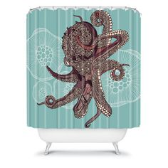 Octopus Bloom Shower Curtain
