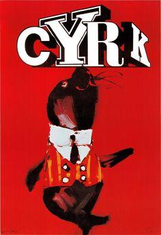 Polish Circus Poster - Waldemar Swierzy Artwork ! Original poster from 1979