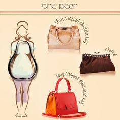 e22e4e6037 Handbags for Pear-shaped Body Pear Shaped Outfits, Pear Shaped Dresses,  Pear Body