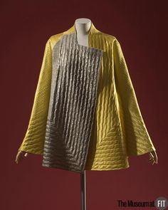 Lanvin yellow silk satin, silver lamé, and chartreuse wool jacket, c.1937